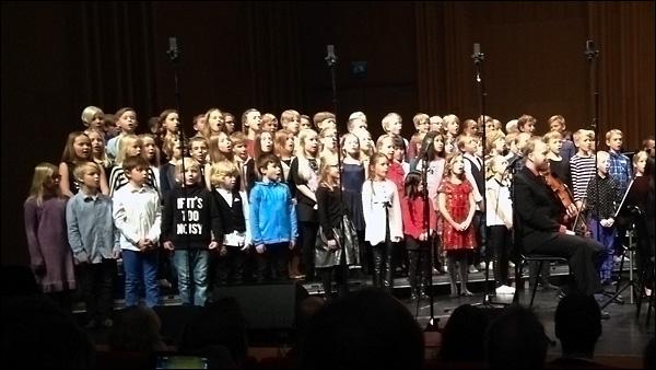 Tredjeklassarna från Furuparksskolan i Luleå